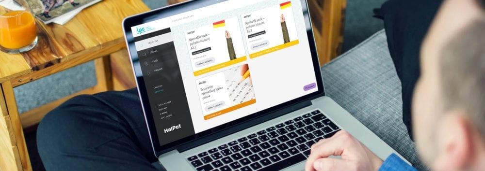 HalPet LPC, e-trgovina, e-programi njemačkog jezika, laptop
