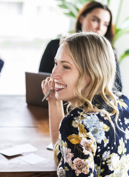 Businesswomen brainstorming in a meeting