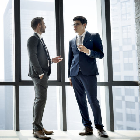Businessman discussing after a meeting
